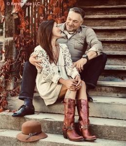 Kerstin with husband
