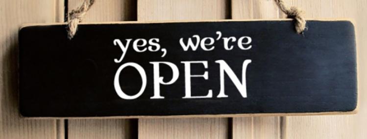 Wir haben für dich geöffnet.